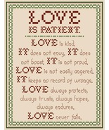 Love is Patient PDF cross stitch chart John Shirley new designer - $5.00