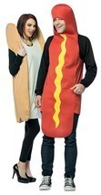 Hot Dog Bun Weiner Couples Costume Tunic Food Halloween Party GC7295 - $59.99