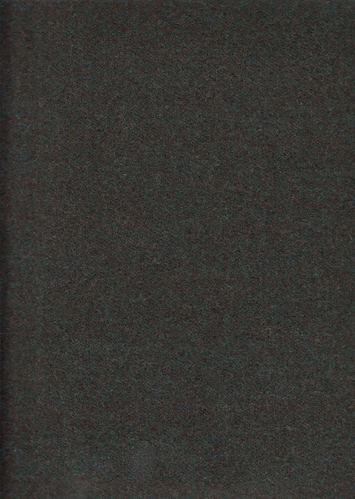 2.875 Mid Century Upholstery Fabric Green Brown Melange Wool DL