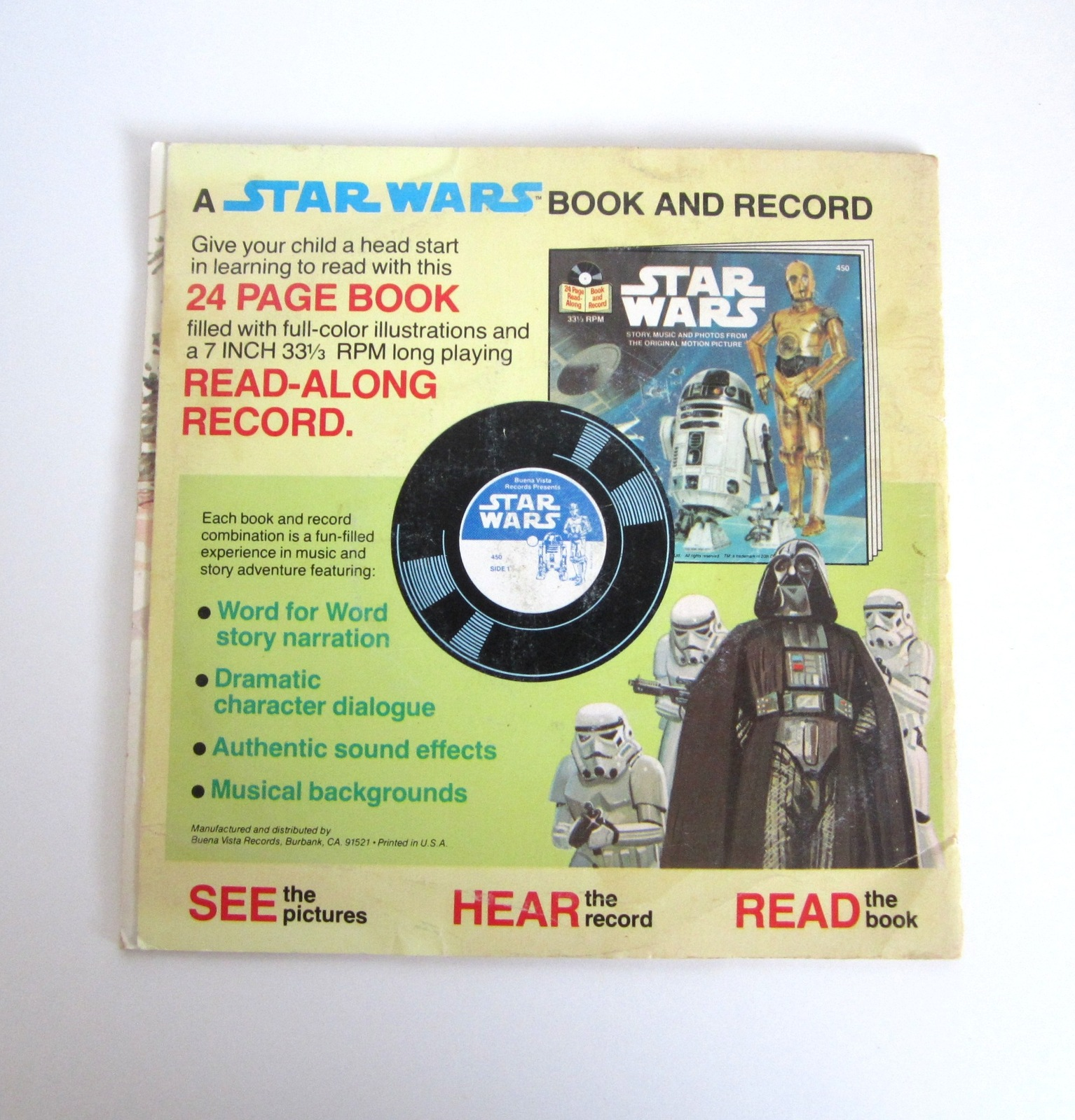 Vintage Star Wars ROTJ The Ewoks Join the Fight 24 Page Book & 33 1/3 Record