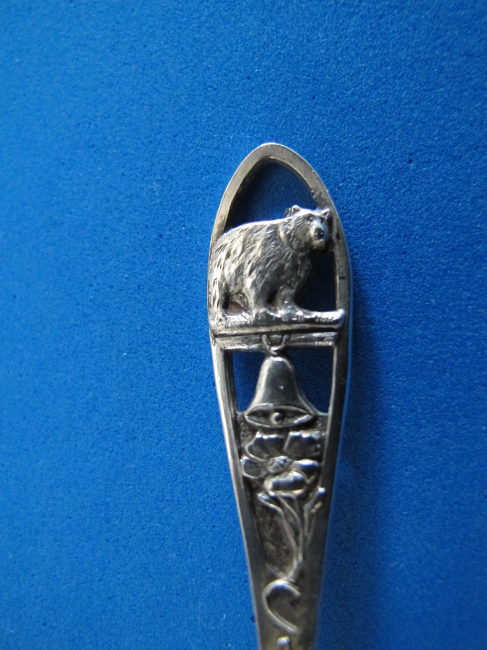 Primary image for California Sterling Silver Souvenir Collector Spoon Collectible Bear Bell Flower