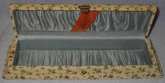 Antique Victorian Vanity Dresser Celluloid Gloves Necktie Box