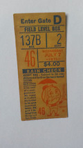 Ticket From July 7, 1971, Montreal Expos at New York Mets Game - $9.50