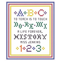 A Teacher's Sampler PDF cross stitch chart John Shirley new designer - $89,02 MXN
