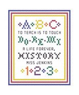 A Teacher's Sampler PDF cross stitch chart John Shirley new designer - $5.00