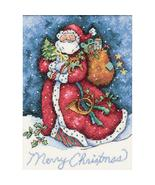 Gold Collection Petite Merry Christmas Santa Kit christmas cross stitch ... - $10.80