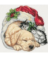 Gold Collection Petite Christmas Morning Pets Kit christmas cross stitch... - $10.80