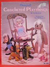 Vintage Crochet Crocheting Patterns Toys Dolls Dog Monkey Alligator Hipp... - $9.95