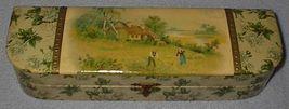 Antique Victorian Ladies Celluloid Vanity Dresser Glove Box - $95.00