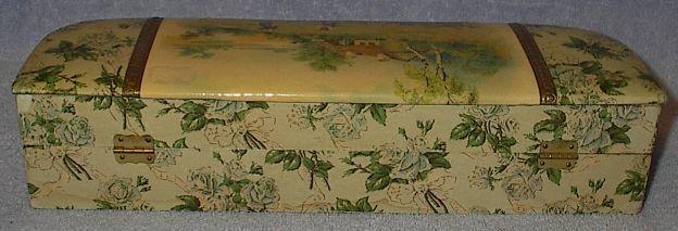 Antique Victorian Ladies Celluloid Vanity Dresser Glove Box