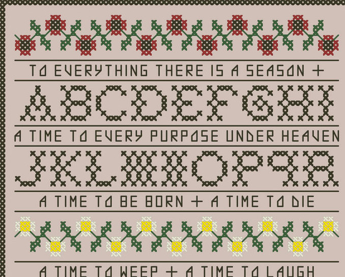 To Everthing A Season Sampler PDF cross stitch chart John Shirley new designe