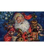 Gold Collection Petite Nightime Santa Kit christmas cross stitch Dimensi - $12.87