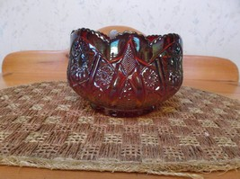 Beautiful Indiana Carnival Glass Amberina Red Sunset Orange Hobstar Bowl *EVC* - $44.54