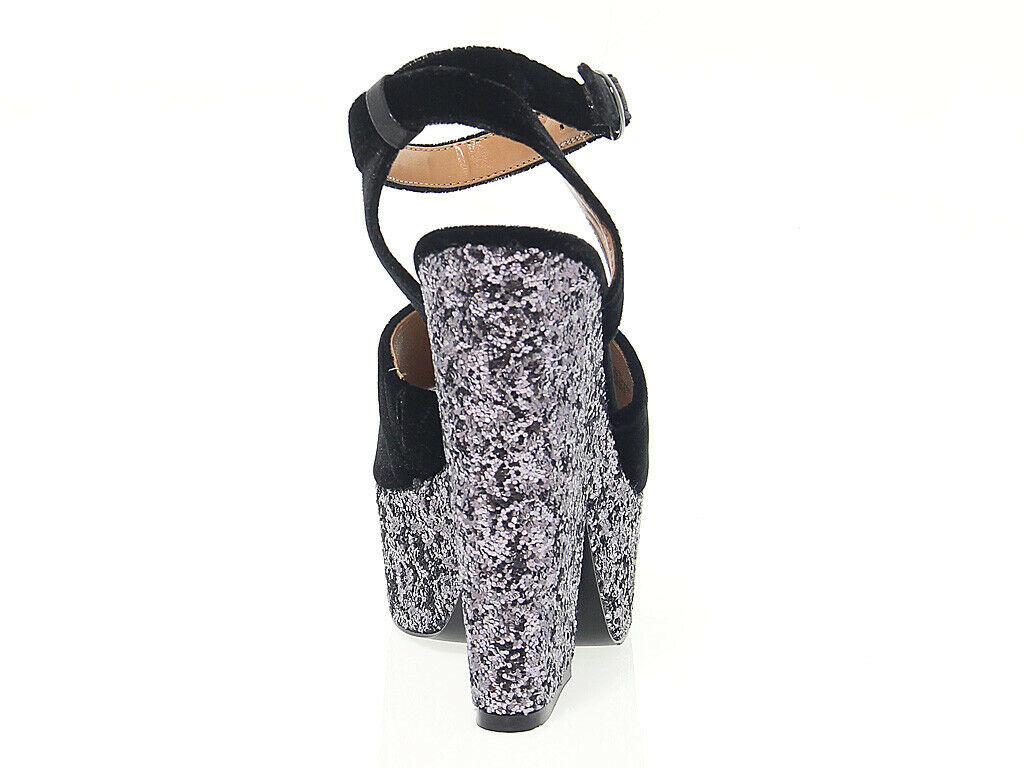 Heeled sandal STEVE MADDEN FABIAN in black suede leather - Women's Shoes