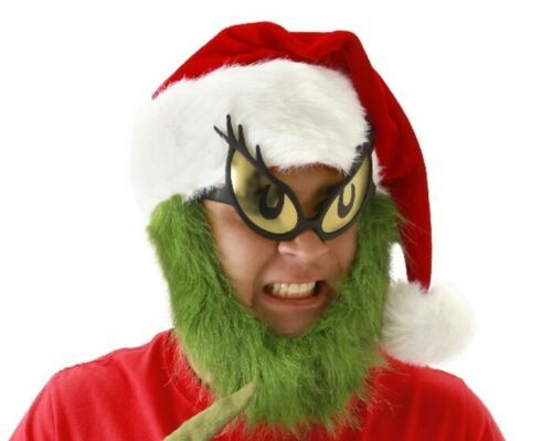 Primary image for Dr. Seuss How The Grinch Stole Christmas Grinch Costume Eyes Glasses NEW UNWORN