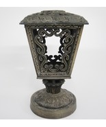 Vintage Brass Lantern Cover with Lid Candle Holder Open Work Scroll Desi... - $19.79