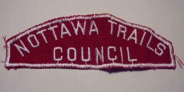 Boy Scouts Nottawa Trails Council Shoulder Patch Vintage