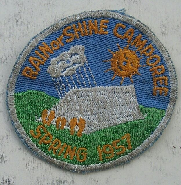 1957 Rain or Shine Spring Camporee Boy Scouts Patch