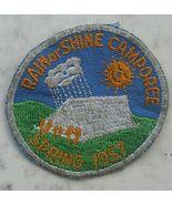 1957 Rain or Shine Spring Camporee Boy Scouts Patch - $9.95