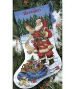 Checking His List Stocking Kit counted cross st... - $19.80