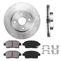 FRONT 255 mm Premium OE 4 Lug [2] Brake Disc Rotors + [4] Ceramic Brake Pads + C - $58.57