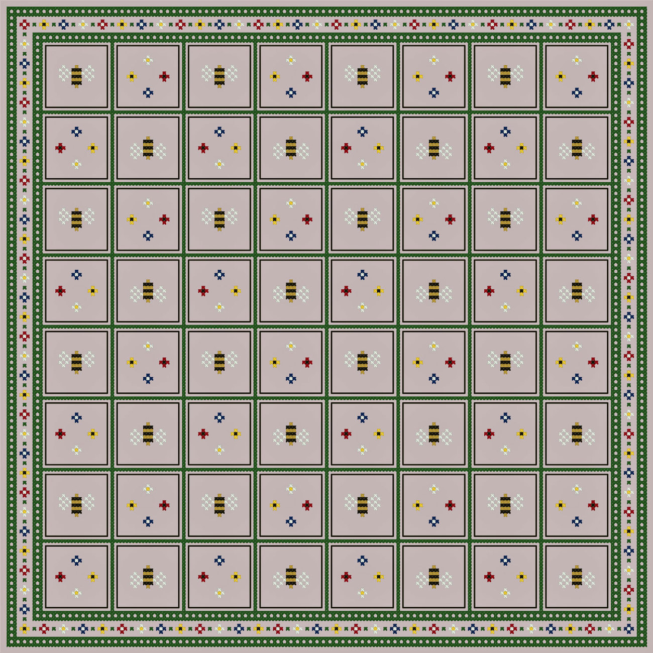 Bees and flowers gameboard