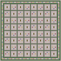 Bees and Flowers Gameboard PDF cross stitch chart John Shirley new designer - $5.00