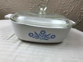 P-1-B Corning Ware Blue Cornflower 1 Qt. Casserole Dish w/ Pyrex Lid [S7... - $13.98