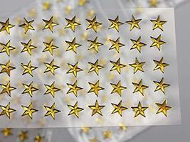 KraftGenius Allstarco 6mm Amber LQ32 Star Self Adhesive Acrylic Rhinestones Plas - $9.79