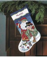 Santa & Snowman Stocking Kit counted cross stit... - $19.80