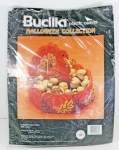 Bucilla Turkey Treat Dish Centerpiece Plastic Canvas Kit Halloween Thanksgiving - $28.04