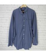 Ralph Lauren Jeans Camisa Hombre Talla XL Azul de Cuadros con Botones - $19.37