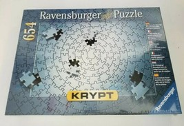 "Ravensburger ""Krypt"" Silver 654 Piece Blank Challenge Jigsaw Puzzle New ... - $34.53"