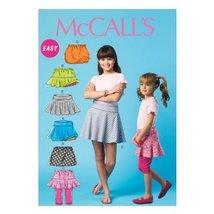 McCall Pattern Company M6918 Children's/Girls Skorts, Size CCE - $14.21