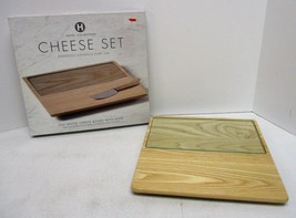 Hotel Collection Ash Wood Cheese Board with Glass Insert - $18.76 CAD