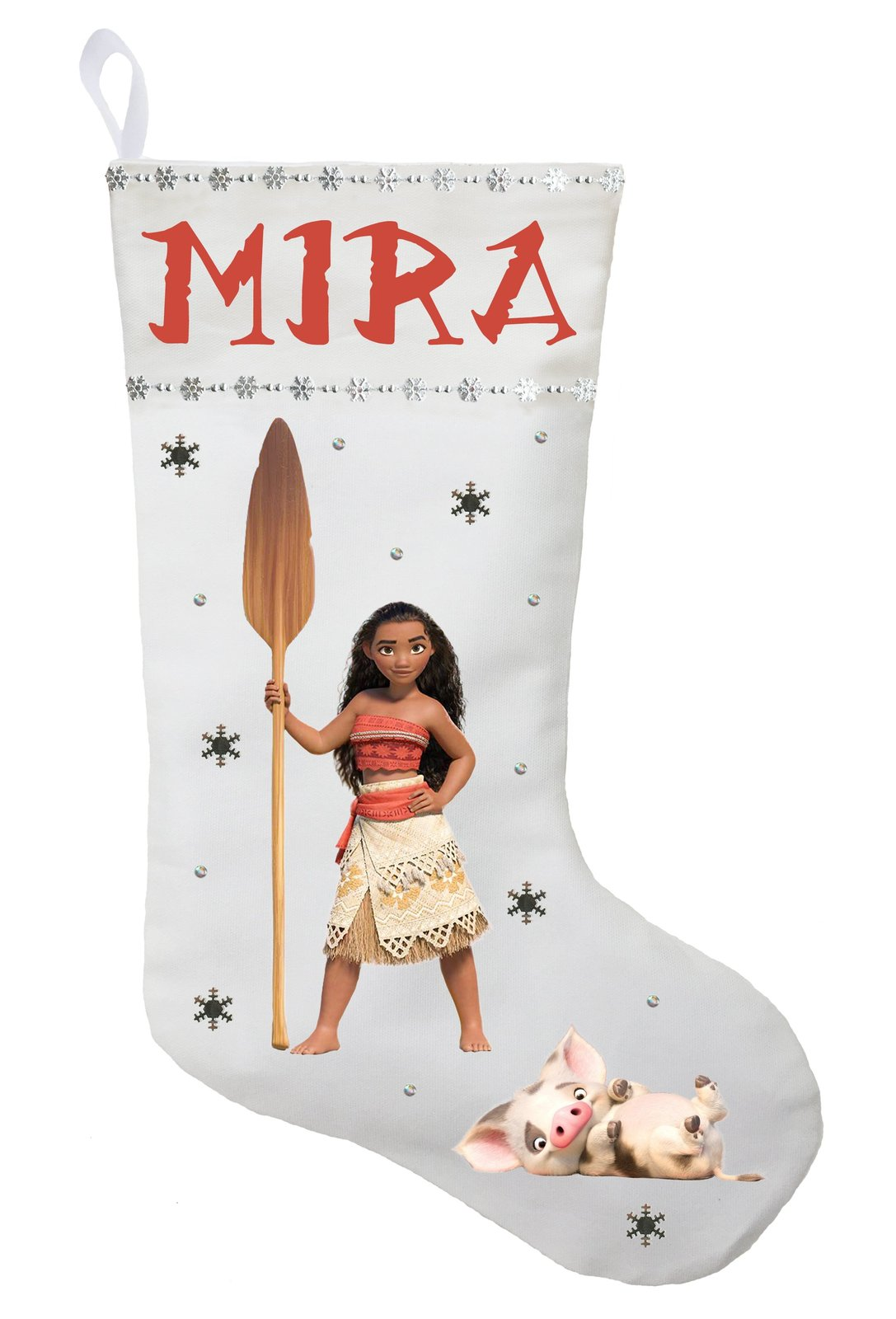 Moana Christmas Stocking - Personalized and Hand Princess Moana Stocking
