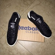 Reebok NPC II Casual Sneakers Black/White Size 7 - $55.10