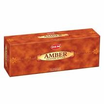 Hem Amber Incense Sticks Beautiful Handmade Natural Fragrance 6 x 20= 120 Stick - $14.76