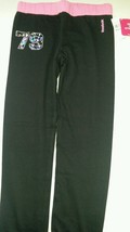 """REEBOK FRENCH TERRY """"79"""" jogger pants-  girl size M black -pink  MSRP $ ... - $9.49"""