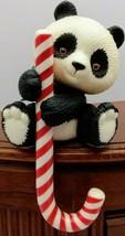 Hallmark Christmas Panda Bear with Candy Cane Stocking Holder Vintage 19... - $9.45