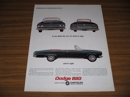 1963 Print Ad The 1964 Dodge 880 Convertible - $16.36