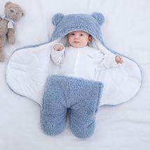 Ultra-Soft Fluffy Fleece Blanket Nursery Swaddle Wrap Baby Cocoon - Flee... - $30.00+