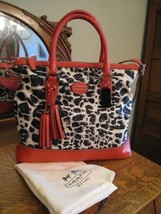 AUTHENTIC COACH LEGACY RORY OCELOT LEOPARD TOTE 19988 - $139.00
