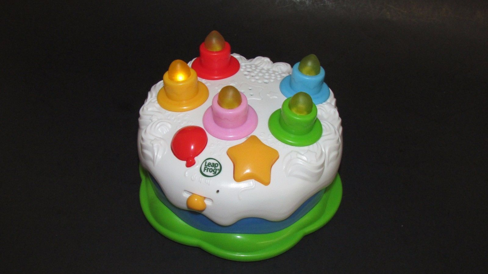 LeapFrog Birthday Cake Counting Blow Out Candles Lights Sounds Musical Toy Sings