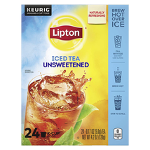 Lipton Iced Tea K-Cup Pods For a Cold Beverage Unsweetened Black Tea Made With R - $17.99