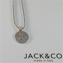 Necklace to Balls Silver 925 Jack&co with Infinity in Rose Gold 9KT JCN0548 - $104.51