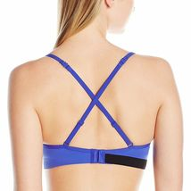 Calvin Klein Seamless Logo Blue Demi Lightly Lined Multiway Underwire Bra NWT image 4