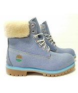 """TIMBERLAND X JUST DON LIMITED EDITION MEN'S 6"""" WATERPROOF BLUE DENIM BOO... - $214.39"""