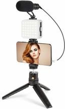 Microphone for Phone with LED Light,Vlogging Kit Holder&Mini...  - $89.36