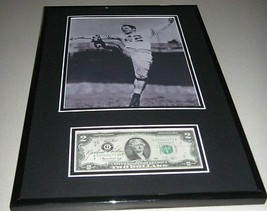 Marshall Goldberg Pitt Signed Framed $2 Bill & Photo Display JSA - $224.39